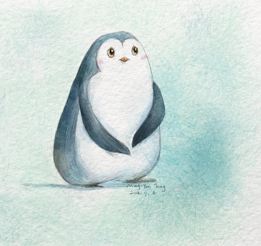 幼儿叠纸手工制作企鹅