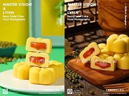 蛋黄流沙绿豆糕点心拍摄|美食产品摄影|上海魔摄视觉