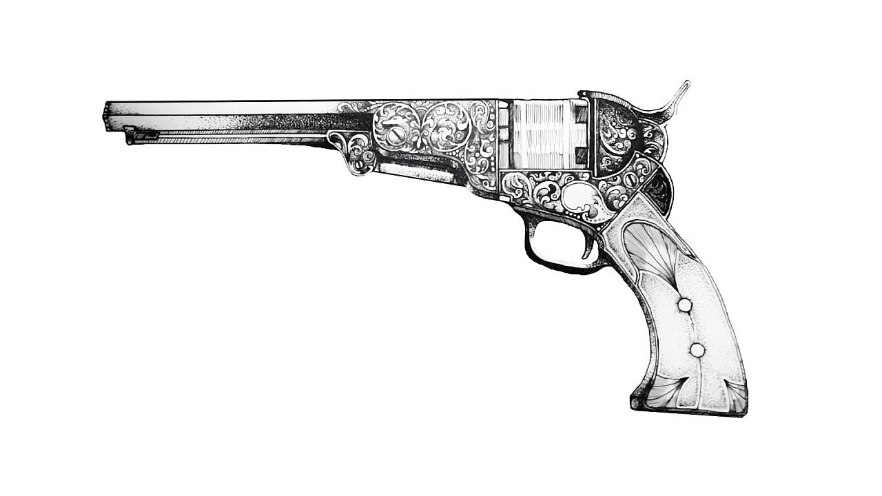 电脑扫描的手绘图原稿,点绘和描线是主要方式,樱花和红环针管