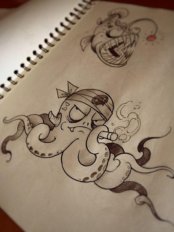 北京纹身店515刺青手稿图片
