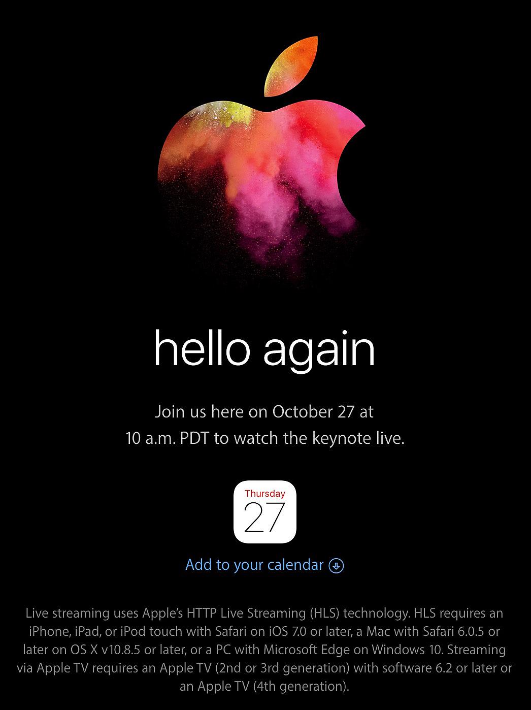 在苹果发出发布会邀请函前一天,我的这个图片