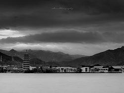 黑白:雁栖湖