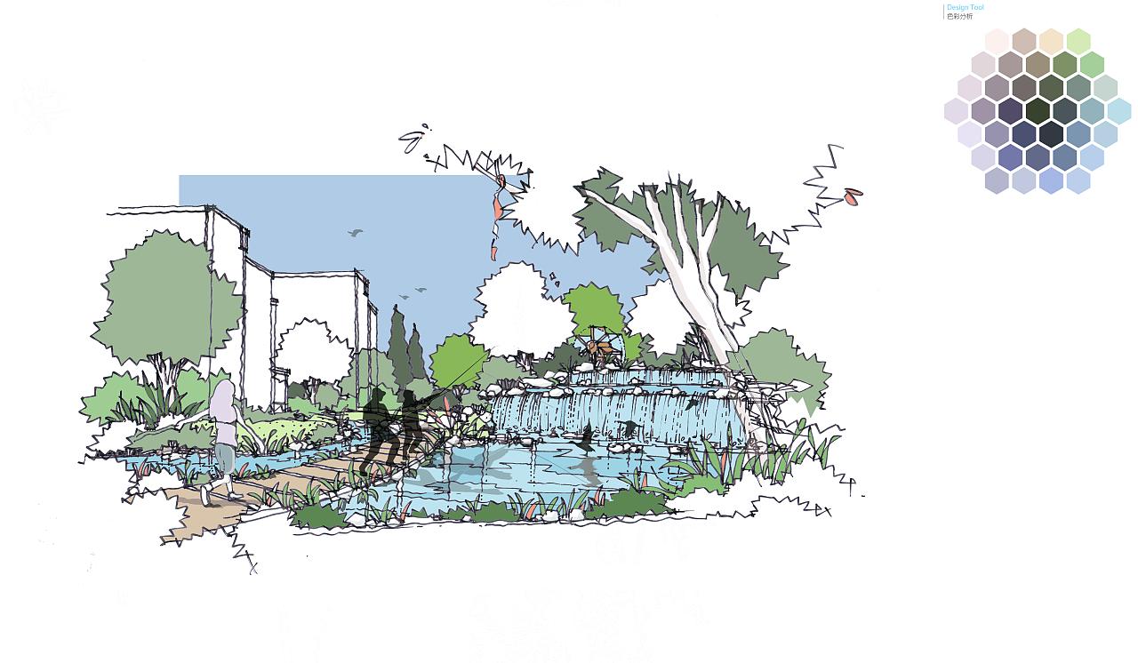 景观手绘草稿|空间|景观设计|磊子1220 - 原创作品