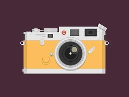 Illustrator中创建复古相机