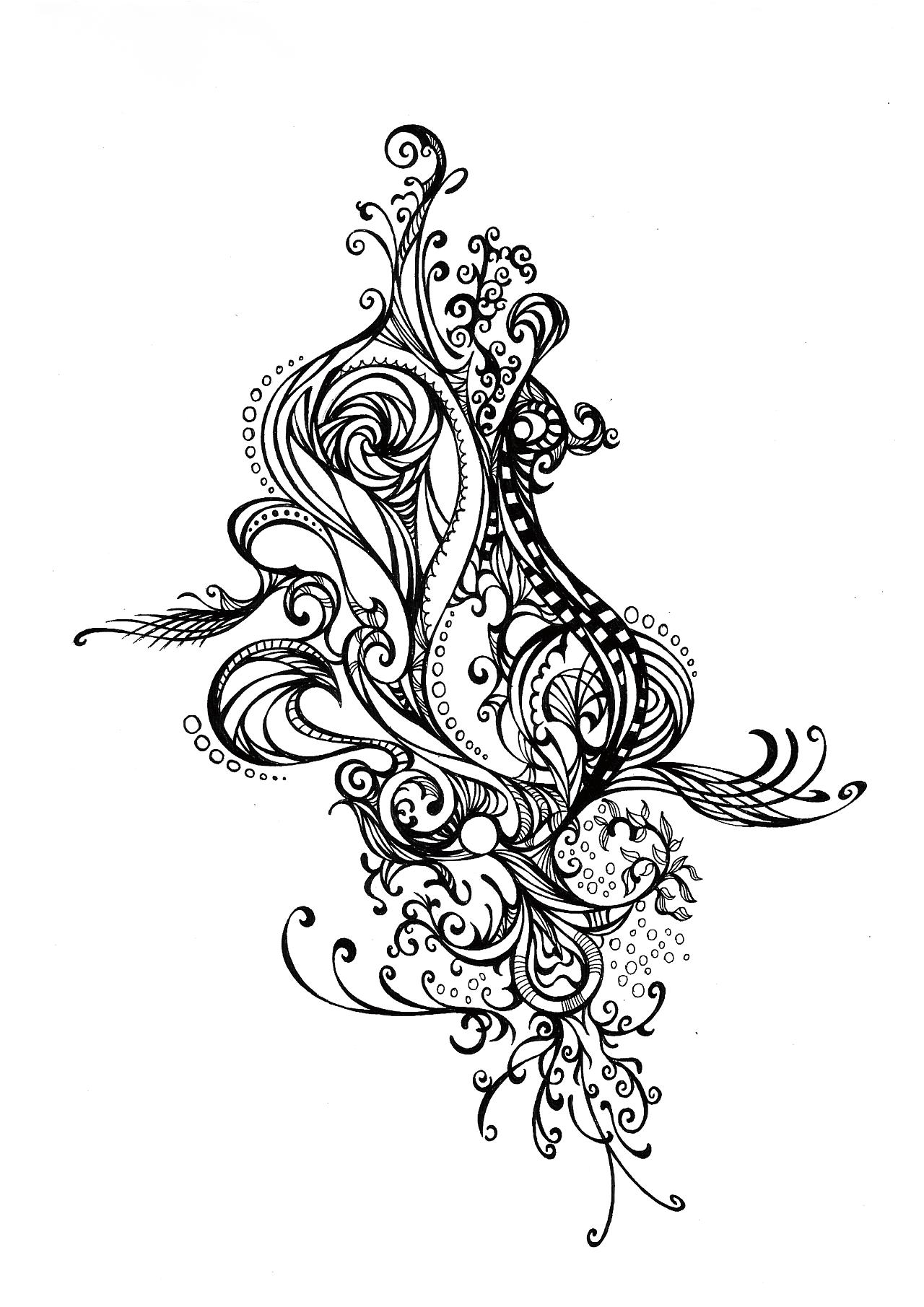 一组黑白装饰画图片