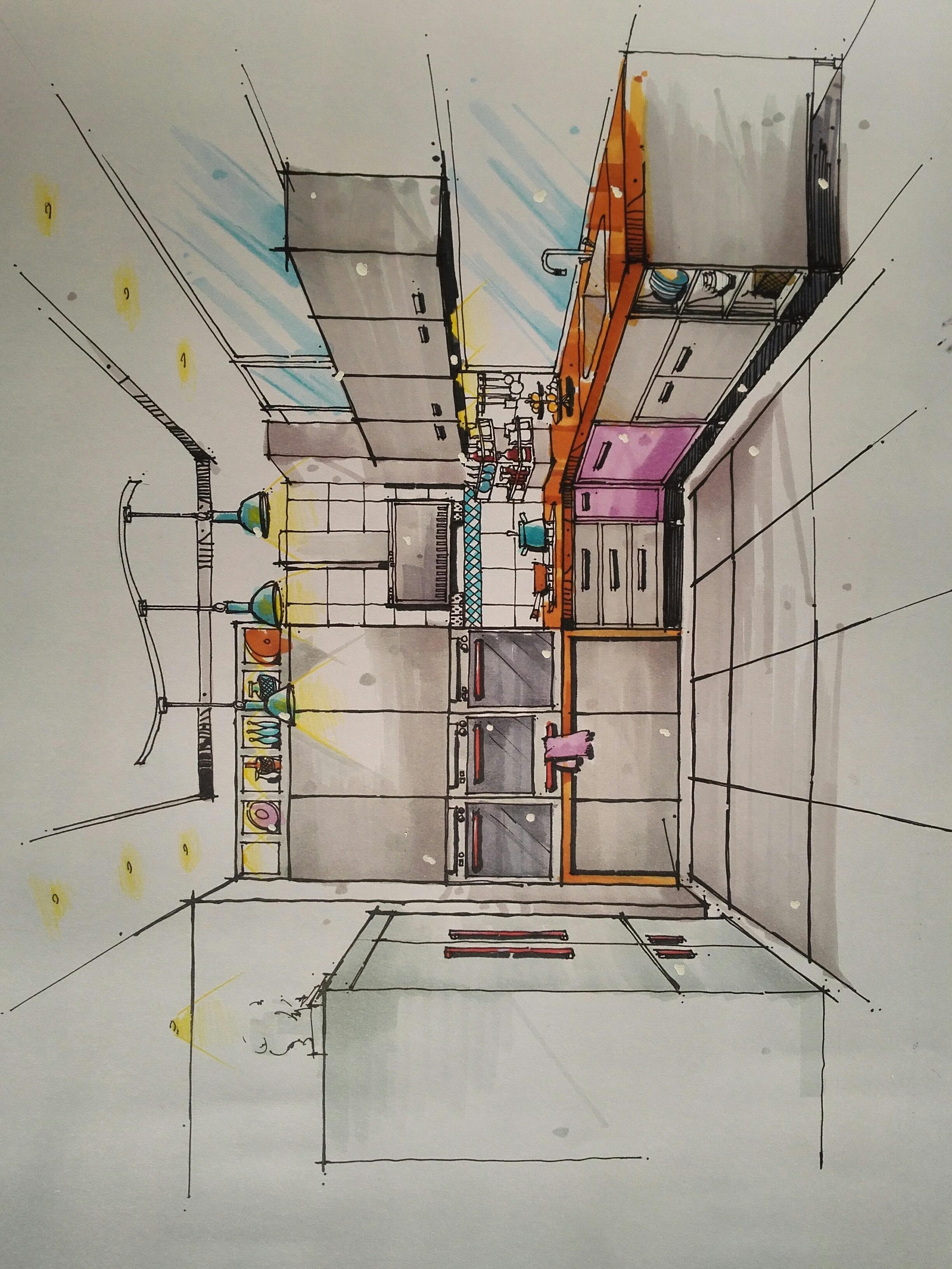 室内手绘效果图|空间|室内设计|那个男人20 - 原创