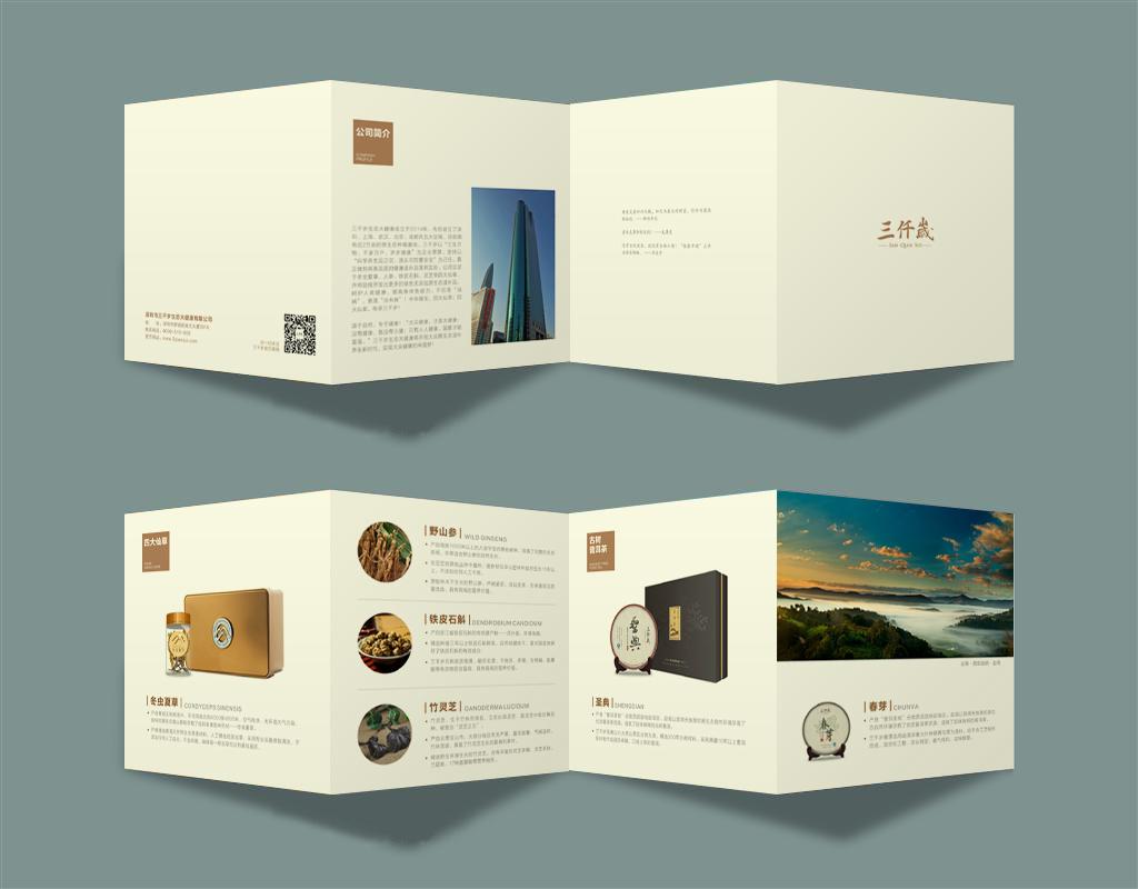 最近做的一些产品说明册和宣传折页图片