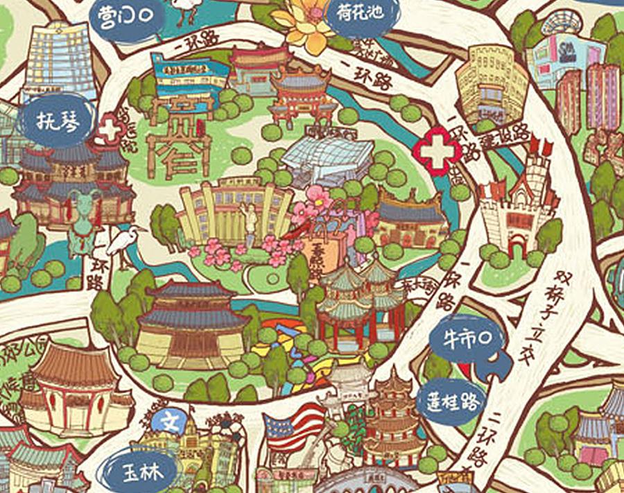 成都景点地图_成都旅游地图高清版