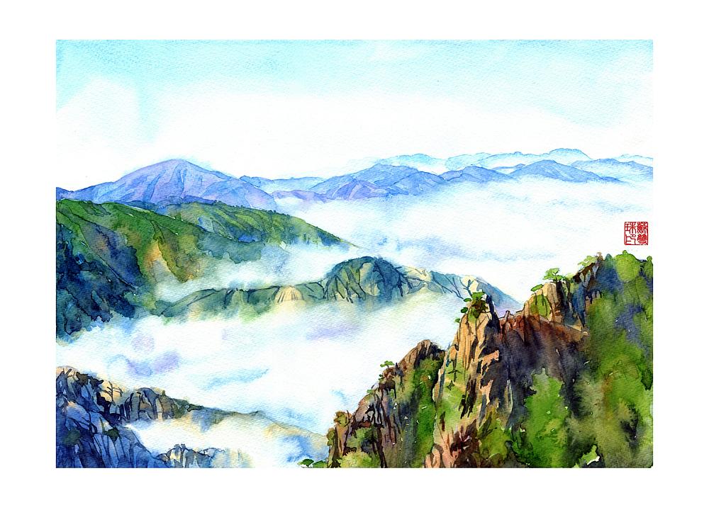 手绘城市系列——《手绘黄山》