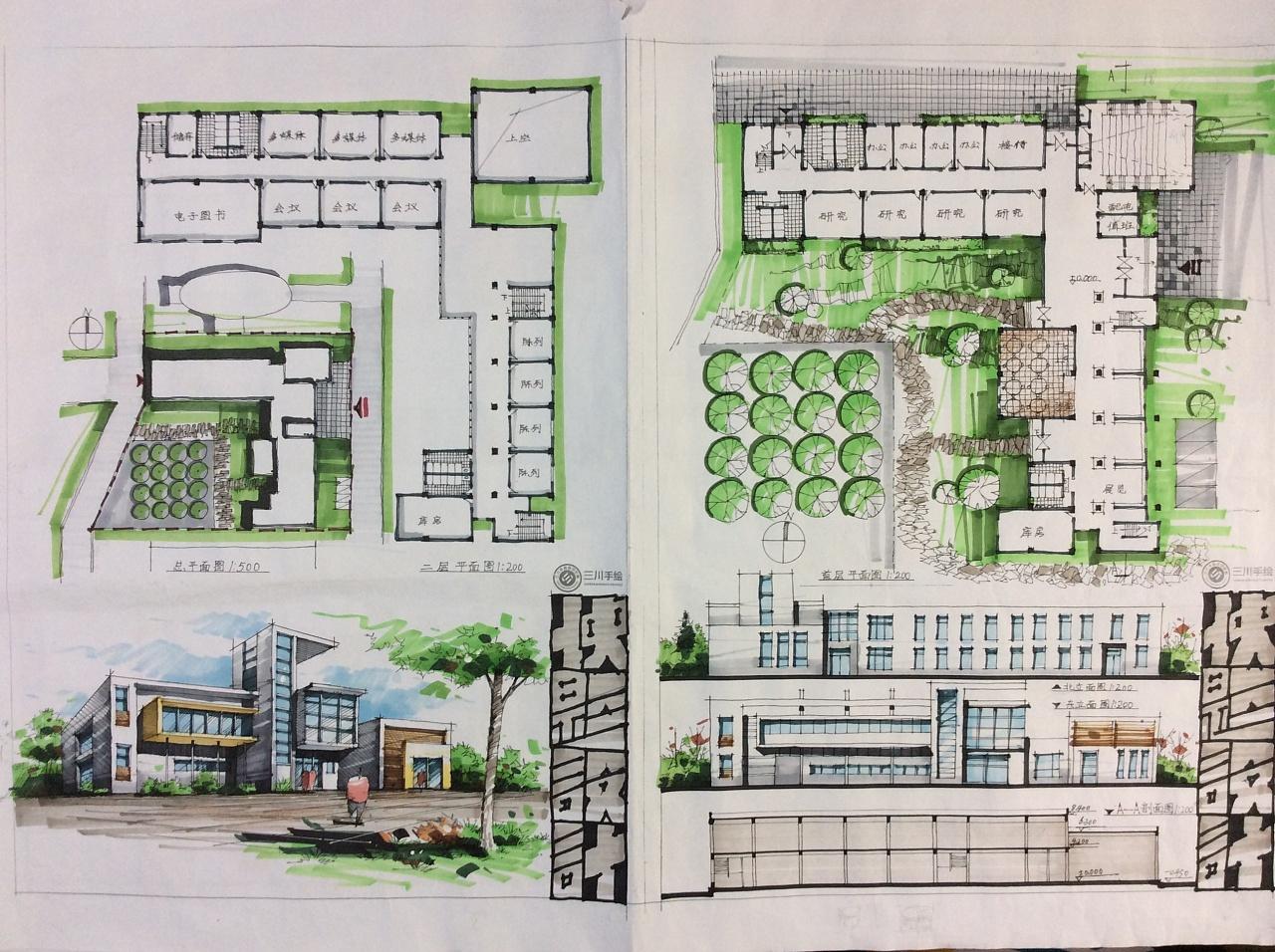 快题表达技巧——色调+排版|空间|建筑设计|建学明图片