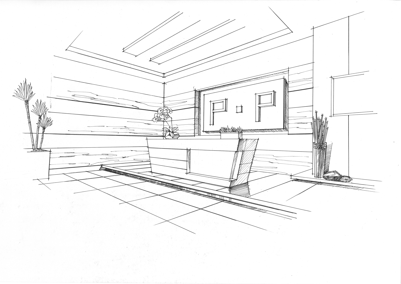 前台空间设计手绘