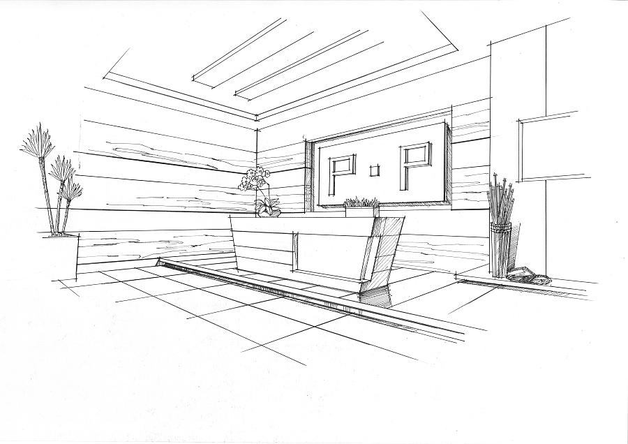 前台空间设计手绘|室内设计|空间/建筑|mhc绘