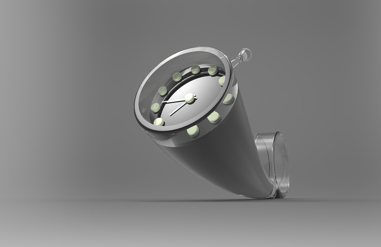 这款蜗牛闹钟内部采用静音齿轮结构,在保证显示准确时间的同时且没有