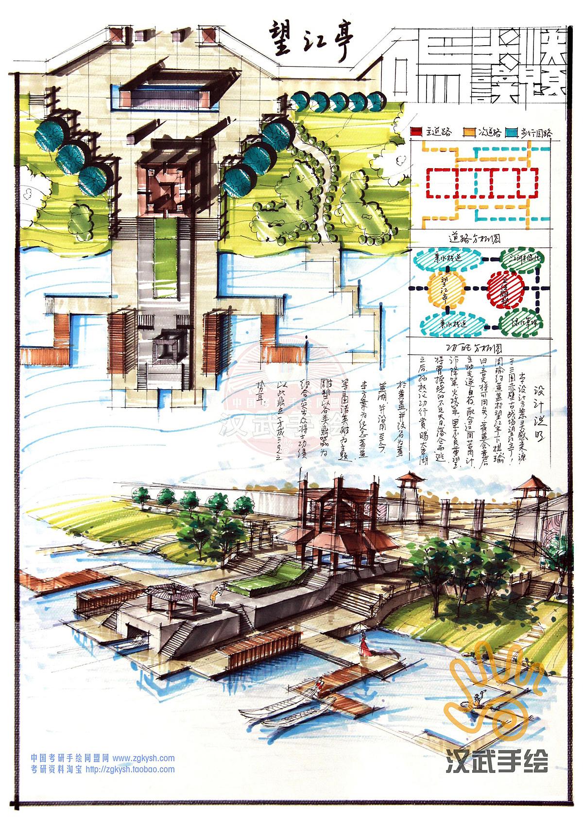 汉武景观手绘快题