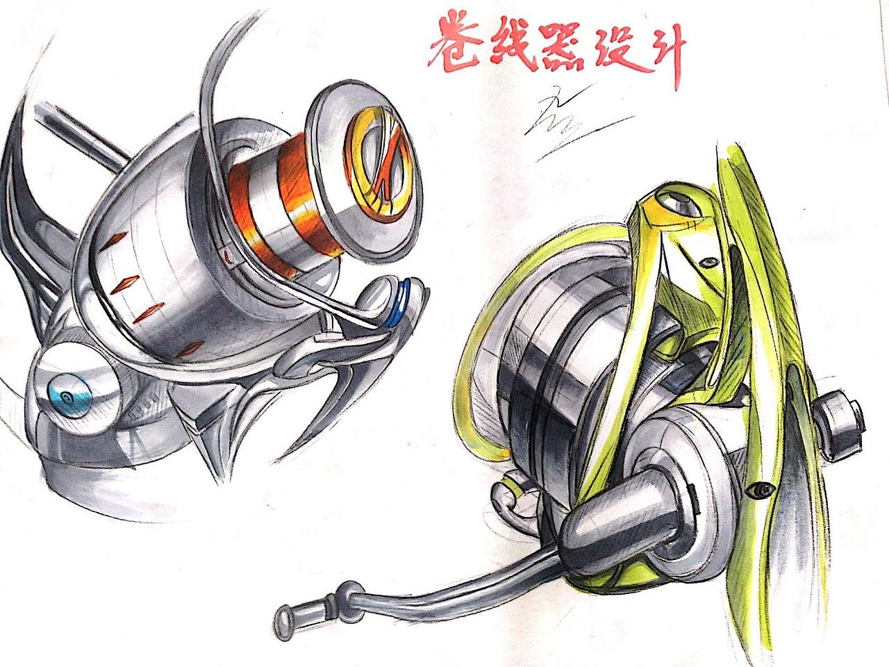 工业设计手绘-马克笔(色粉)上色