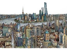 马克笔手绘《上海》