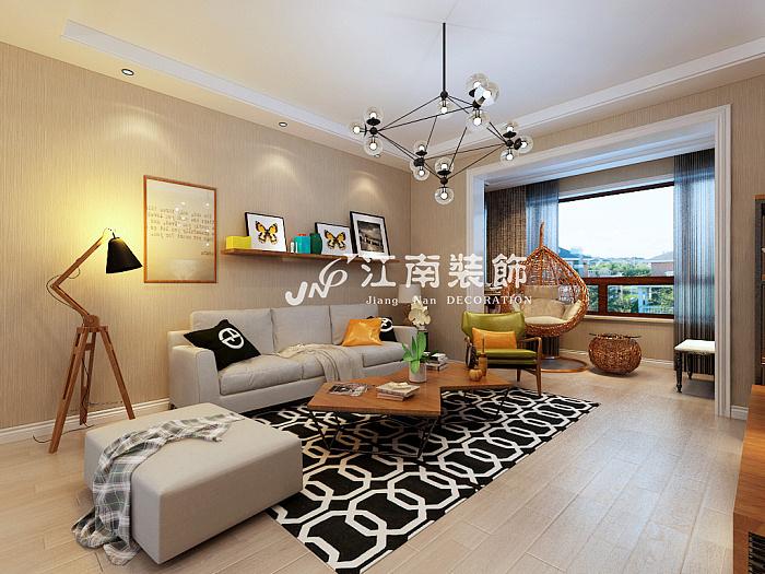 哈尔滨江南装饰公司玫瑰湾珑岸北欧风格装修效果图