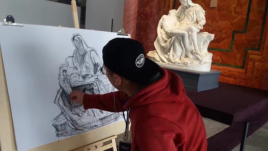 带着学生去博物馆写生画大伟|素描|纯艺术|原画