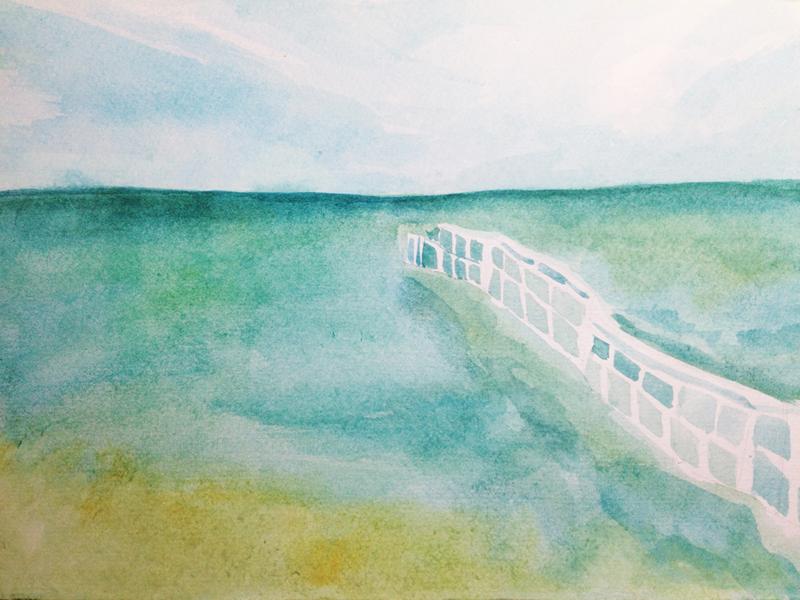 水彩手绘·海
