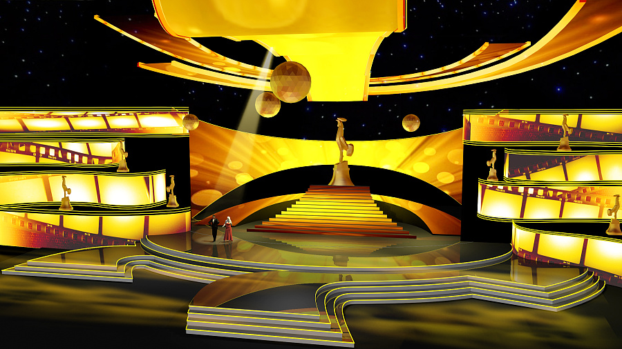 原创作品:第24届中国金鸡百花电影节颁奖典礼舞美设计图片