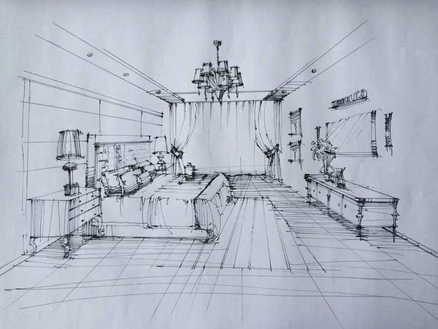手绘室内|室内设计|空间/建筑