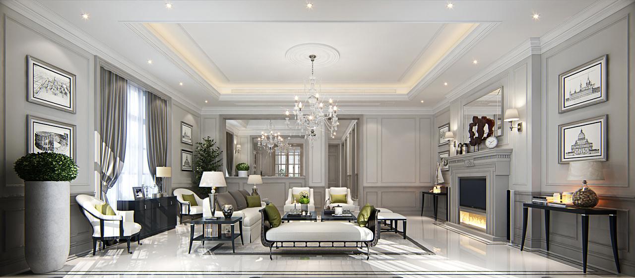 简约欧式别墅设计|空间|室内设