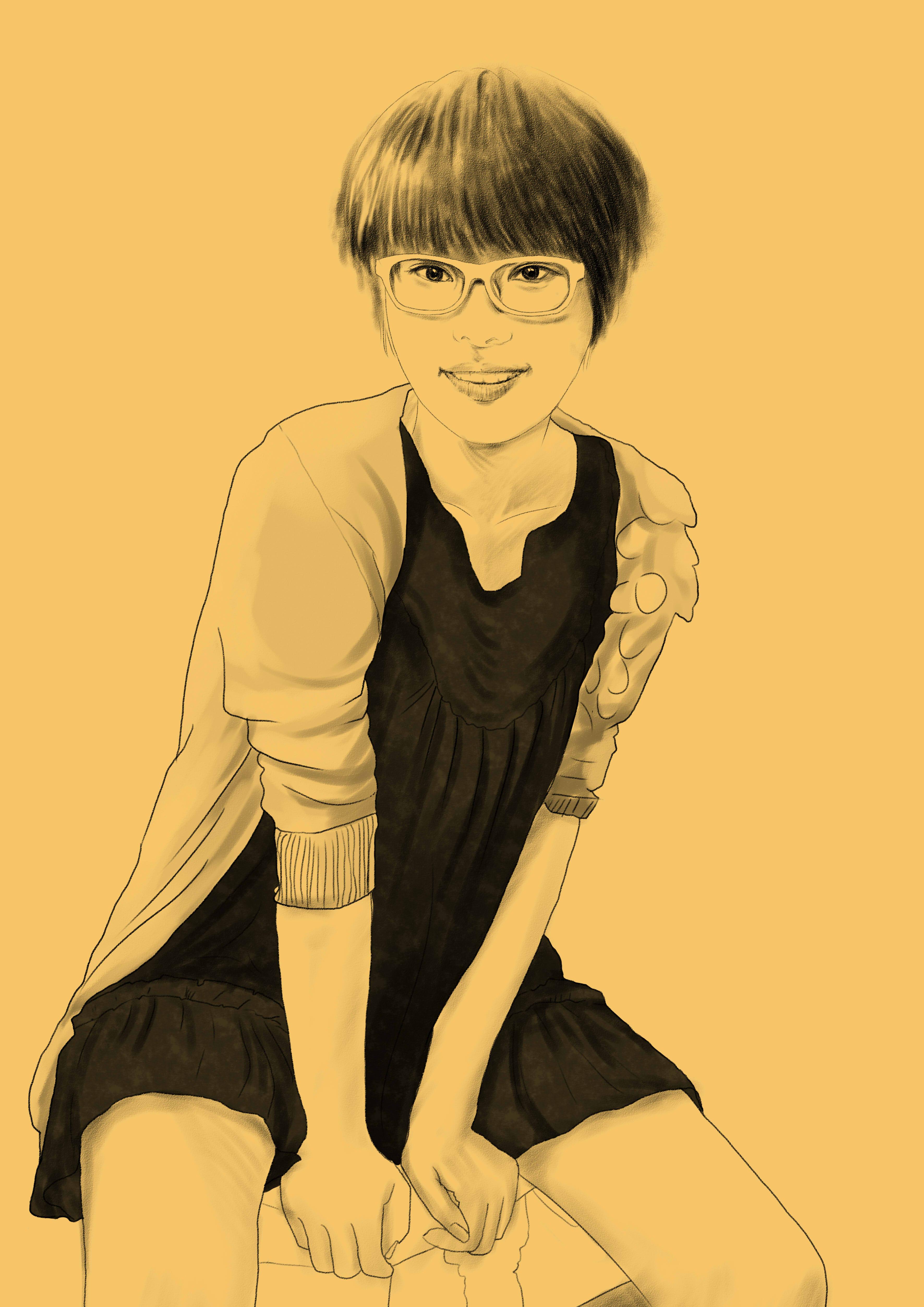 人物手绘素描|插画|像素画|晓绘趣味策划 - 原创作品