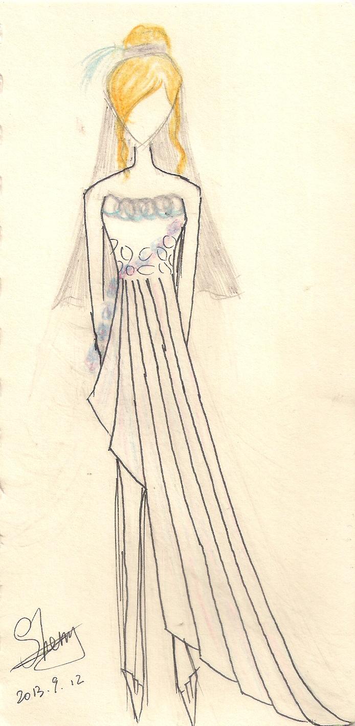 服装设计手绘图铅笔
