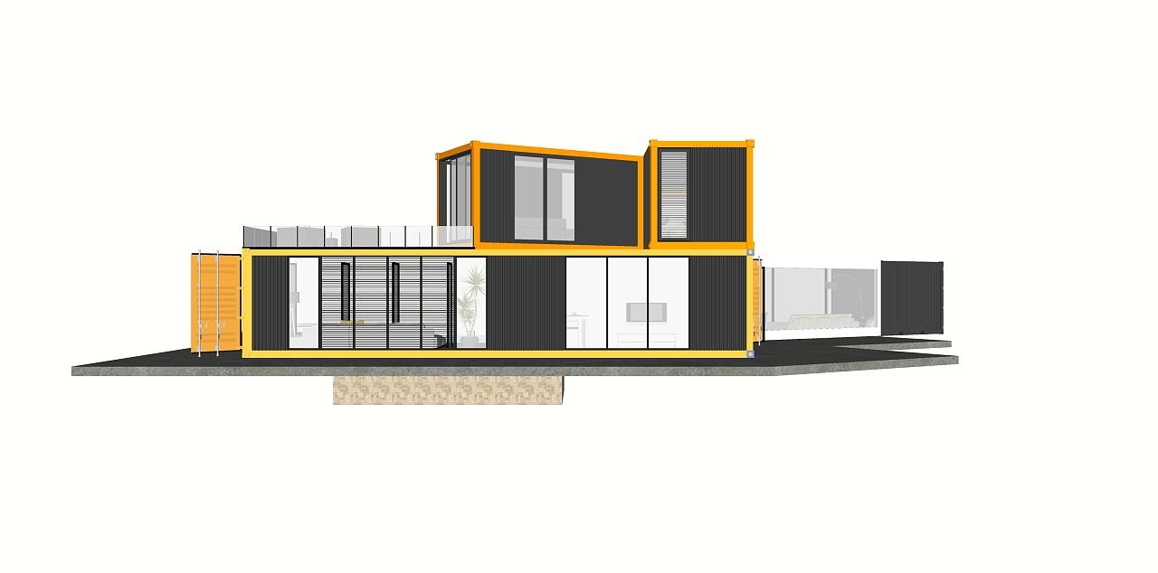 集装箱房 设计图展示图片