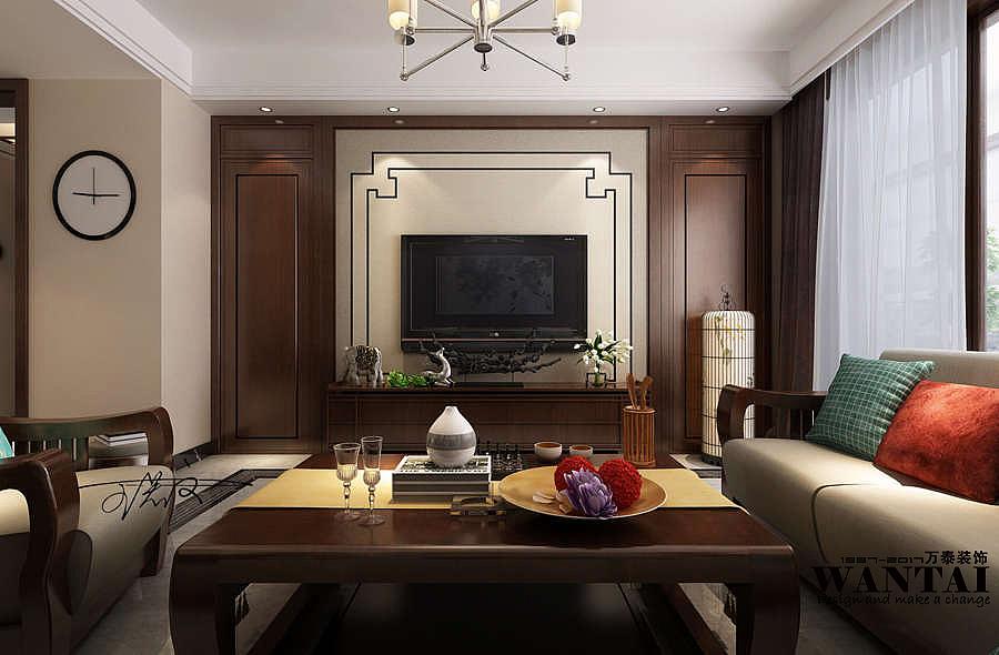 济宁新中式风格影视墙装修设计--孙漾漾|空间|室