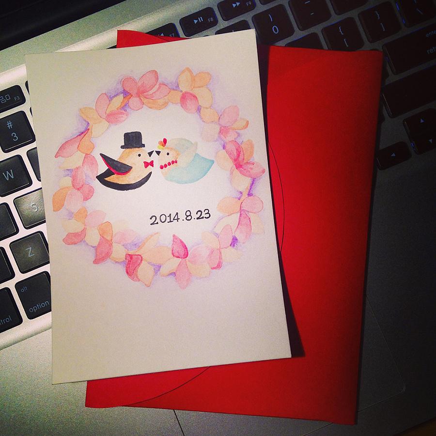 手绘明信片-2014