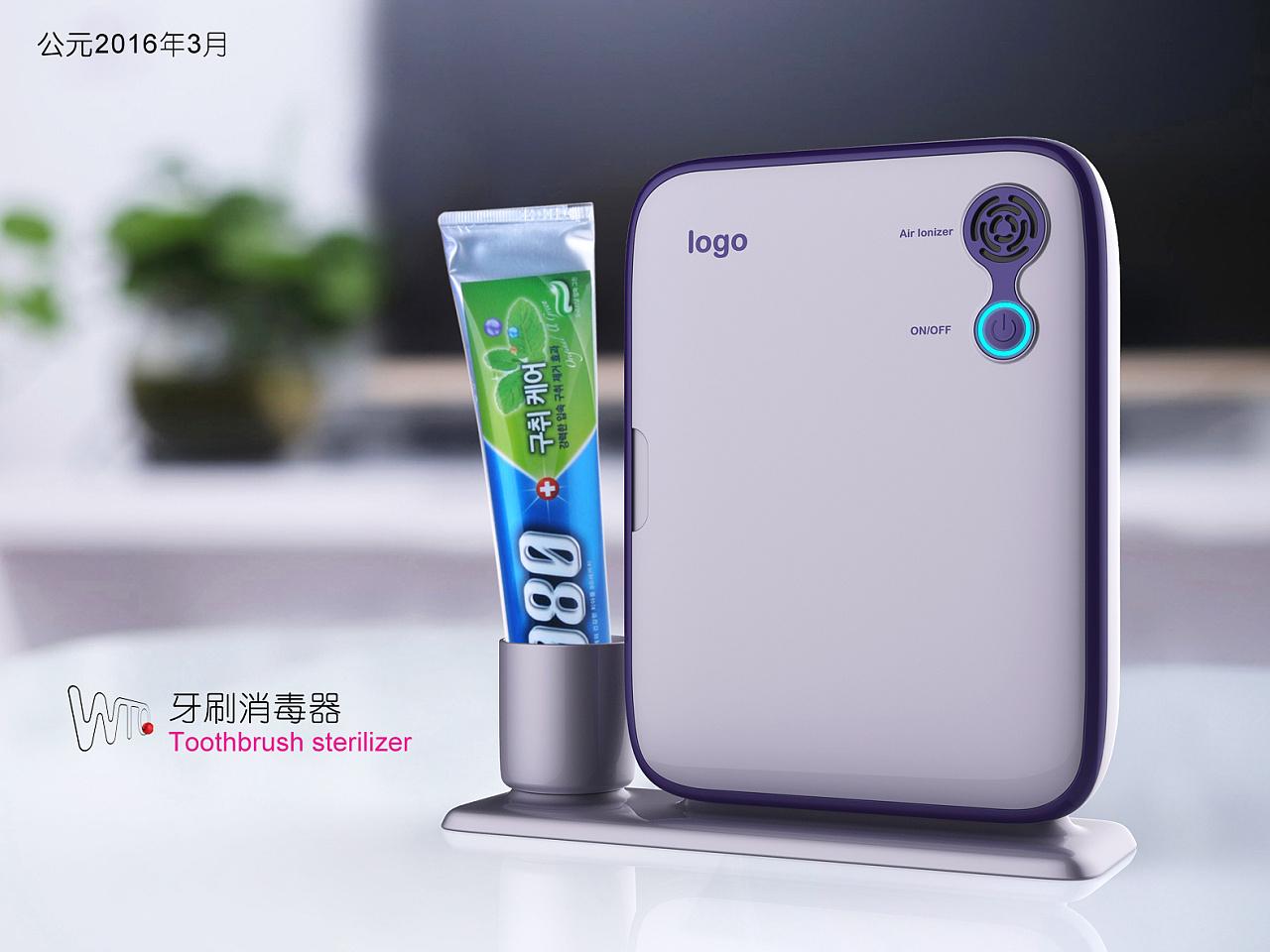 韩国牙刷消毒器_牙刷消毒器|工业/产品|电子产品|黑仔工设 - 原创作品 - 站酷 (ZCOOL)