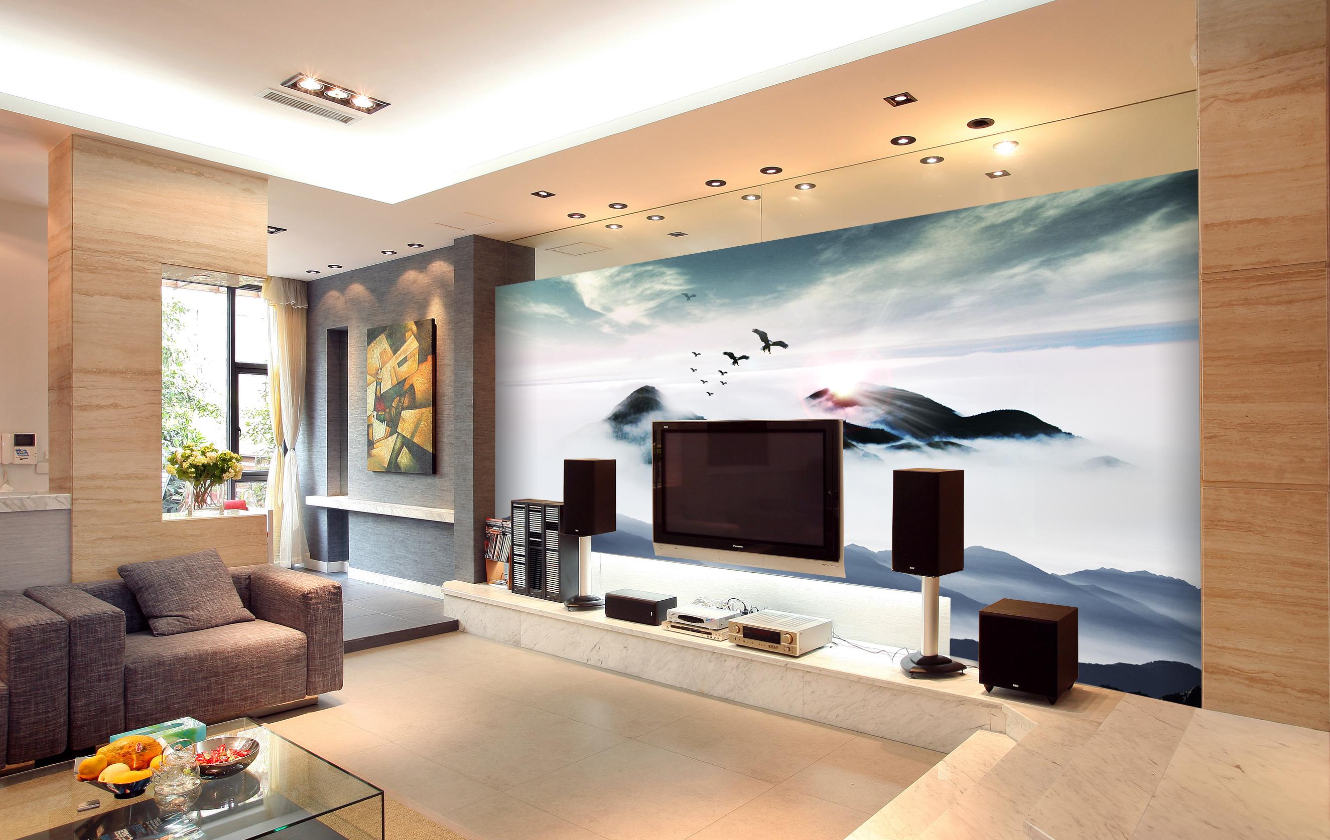 现代中式电视背景墙设计