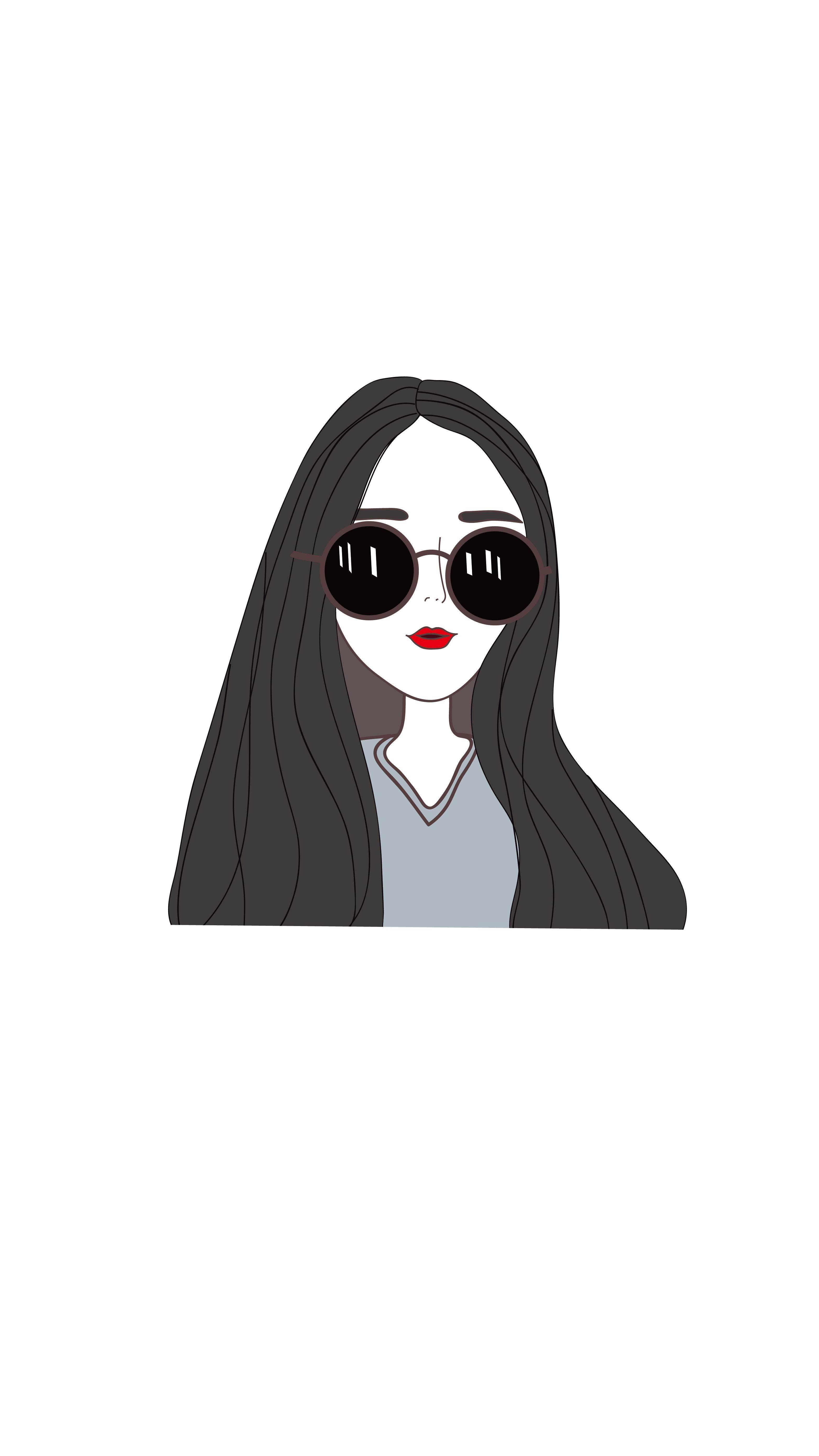 戴眼镜的人物插画