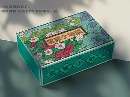 香蜜小地瓜红薯国潮包装礼盒设计