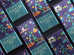 亚麻籽油包装设计 食用油包装设计 粮油包装设计公司
