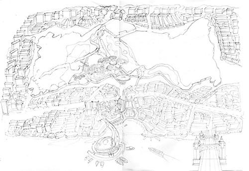 绿地集团_幻岛手绘导览地图