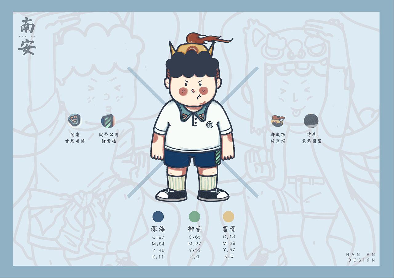 闽南卡通吉祥物形象设计以及闽南语微信表情包系统vi图片