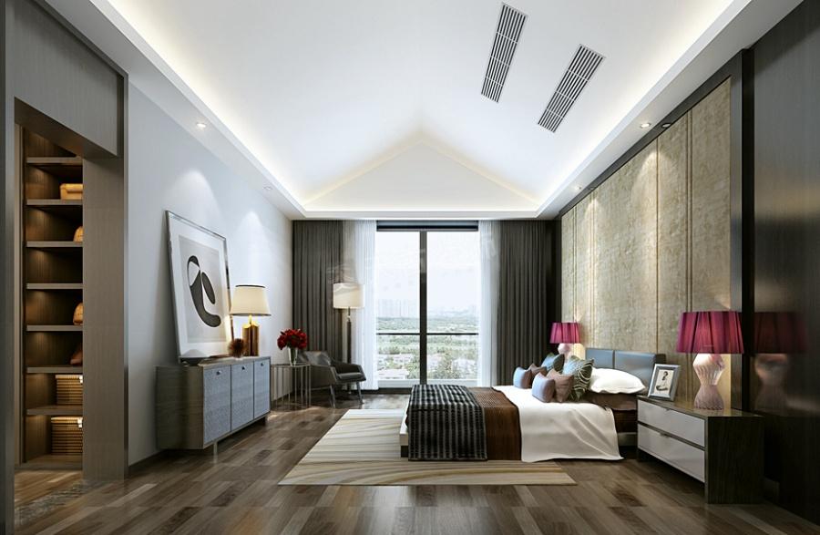 重庆华侨城装修|华侨城联排别墅设计|北欧风格效果图图片