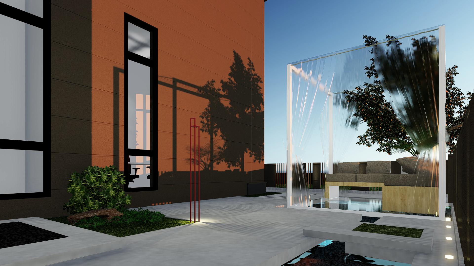 别墅景观|空间|景观设计|lexizhu - 原创作品 - 站酷图片