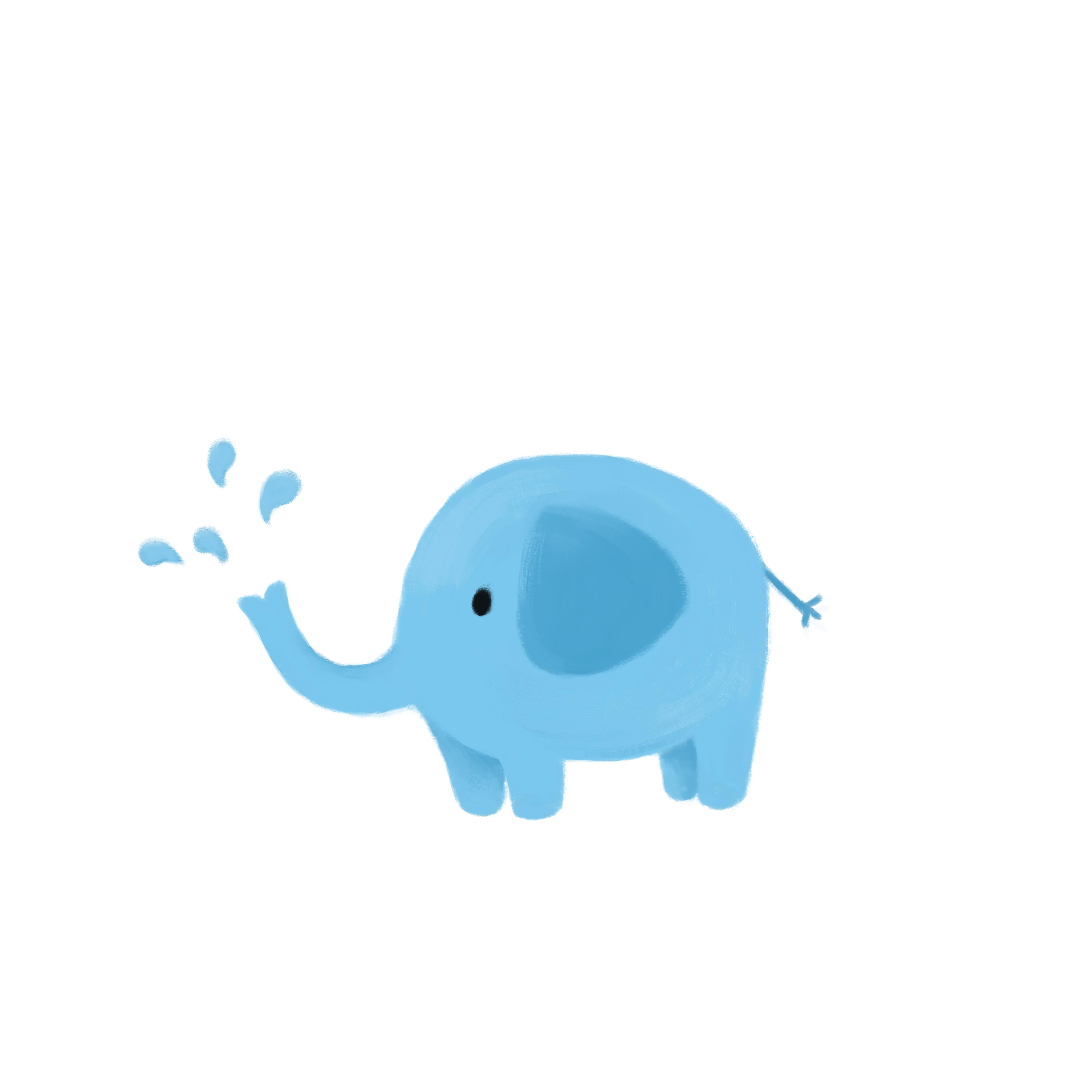 动物卡通形象——长颈鹿,小象