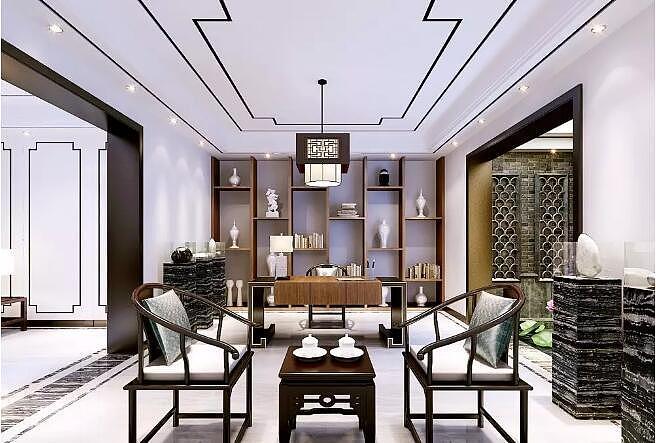 林溪湾500平新中式风格别墅大宅装修案例欣赏