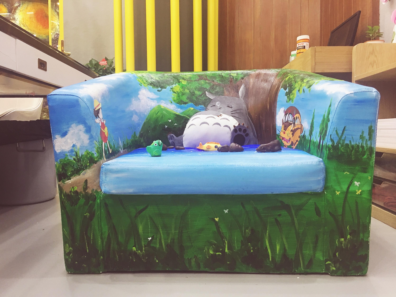 手绘动漫沙发