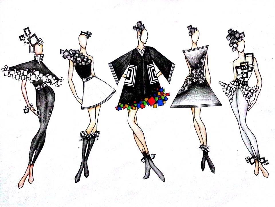 服装设计手绘作品|纯艺术|彩铅|刘小燕子 - 原创作品