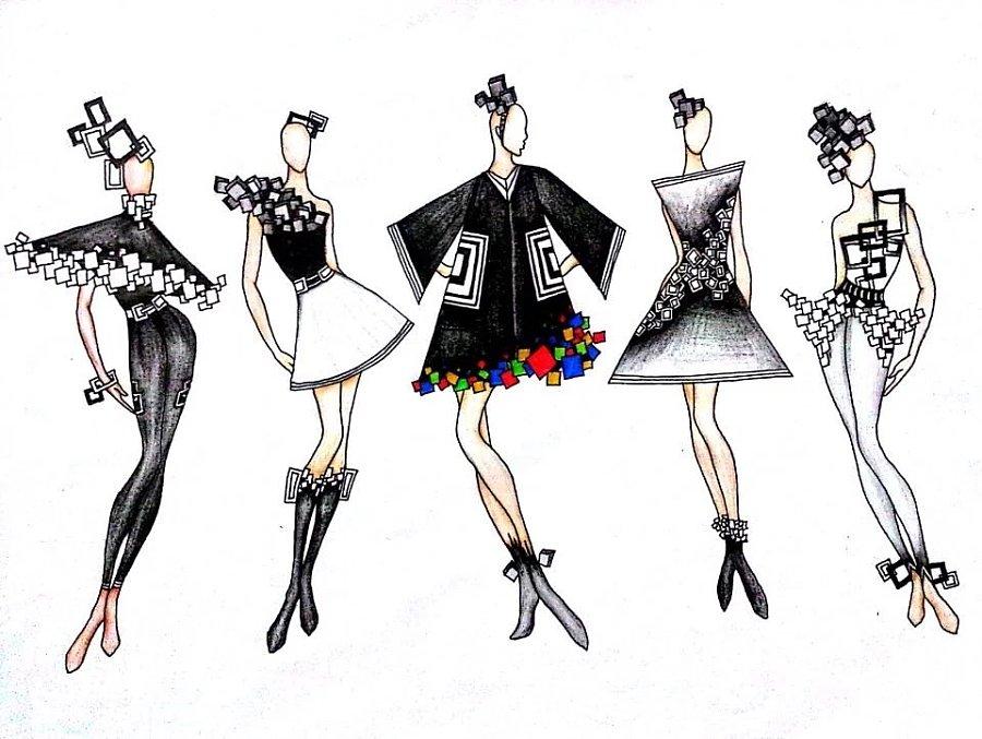 服装设计手绘作品|彩铅|纯艺术|刘小燕子 - 原创设计