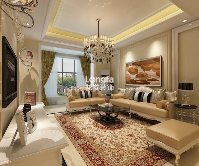 紫晶悦城126平米简约欧式风格装修设计方案效果图
