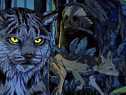 《夜行动物园》主视觉插画