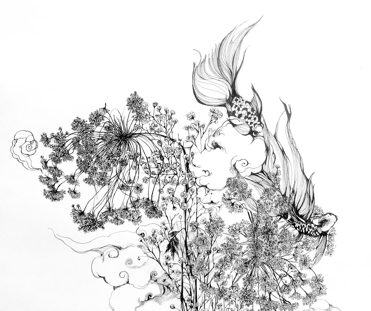 黑白之间:花欲燃