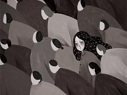 《独行世界》-部分插画