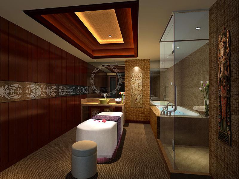 美容院门头装修设计效果图,美容院吧台装修设计效果图